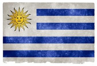 Uruguay flag grunge