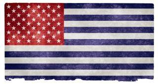 Usa flag grunge gris inversé