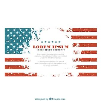 USA modèle de drapeau