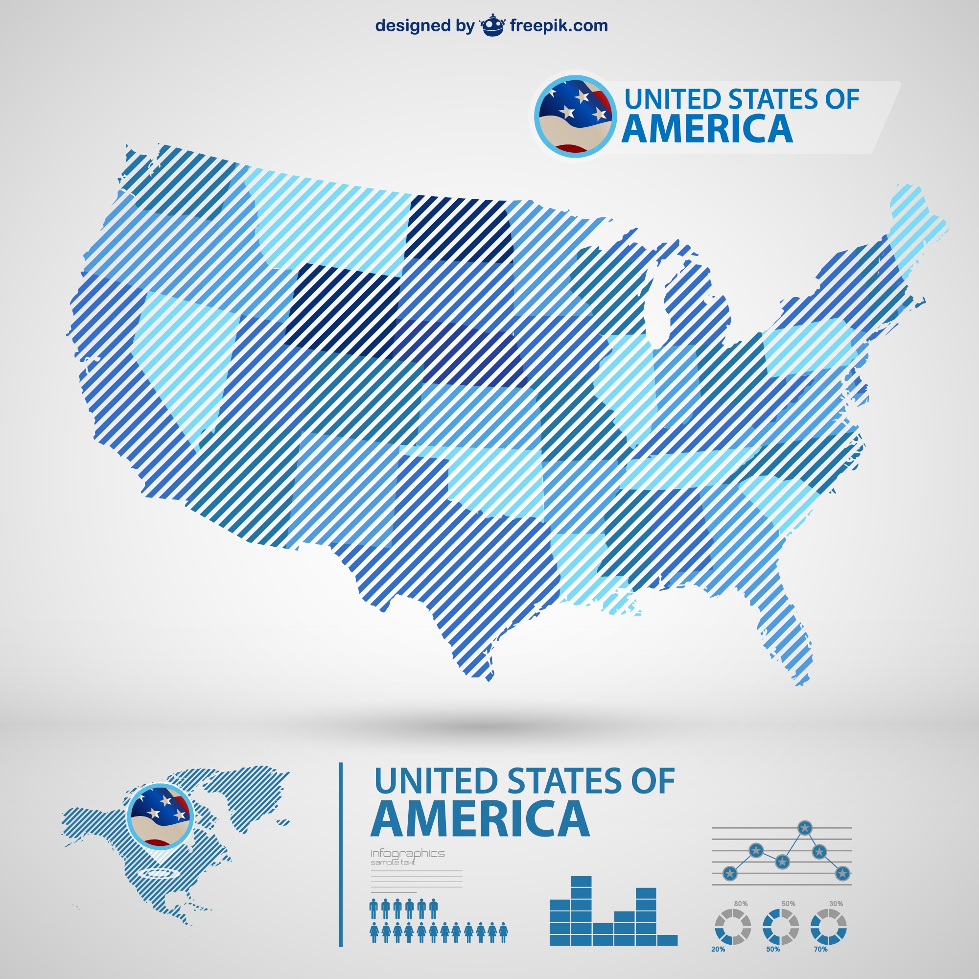 Usa vecteur carte infographie