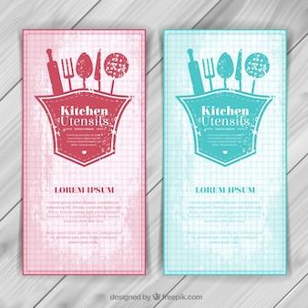 Ustensiles de cuisine bannières