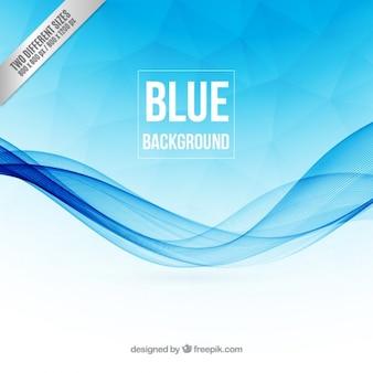 Vagues bleues fond