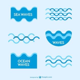 Vagues de la mer modèles de logo