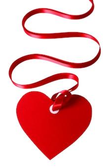 Valentine heart cadeau de forme tag