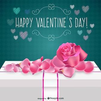 Carte Saint Valentin avec la rose