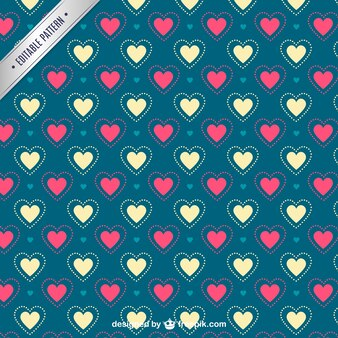 Coeurs le motif de Valentine
