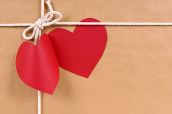 Valentines cadeau du jour avec le message tag