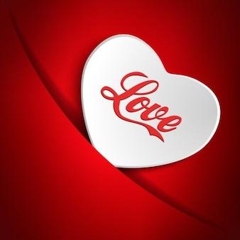Carte de jour de valentines avec le coeur blanc