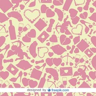 Valentines vecteur de fond