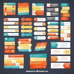 Variété de bannières infographiques