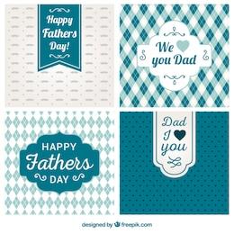 Variété de pères cartes de jour