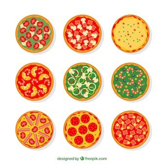 Variété de pizzas