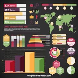 Variété des éléments infographiques