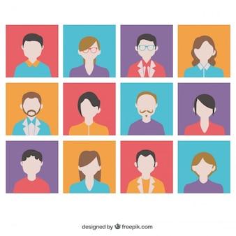 Variété d'avatars colorés