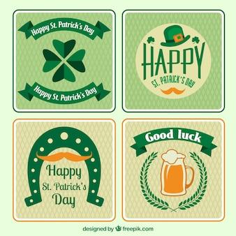 Variété de Saint Patricks cartes de jour