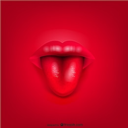 Vecteur bouche des lèvres de fond
