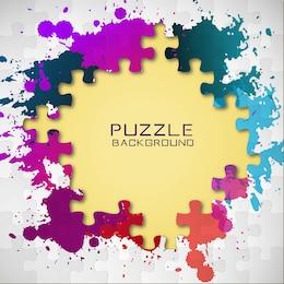 Vecteur couleur de puzzle de démarrage