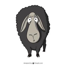 vecteur de bande dessinée de moutons