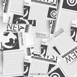 Vecteur de collage de journaux