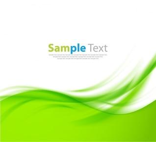 Vecteur de conception ondulée fond vert