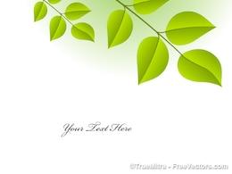 Vecteur de fond de bannière naturel de feuilles