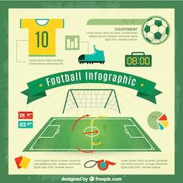 Vecteur de football infographie libre