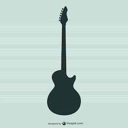 Vecteur de guitare silhouette