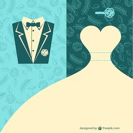 Vecteur de mariage art