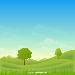 Vecteur de paysage rural