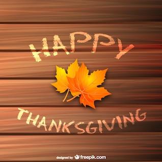 Vecteur de thanksgiving avec des feuilles