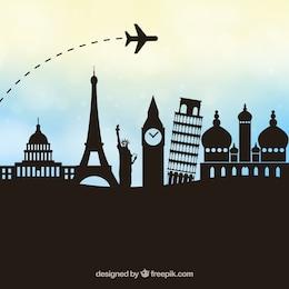 Vecteur de tourisme dessin géométrique