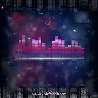 Vecteur égaliseur sonore