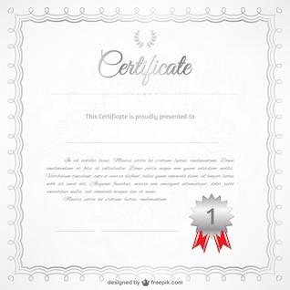 Vecteur libre modèle de certificat