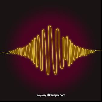 Vecteur onde sonore art