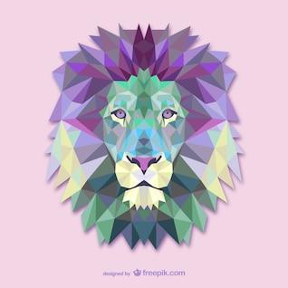 Vecteur triangle lion illustration