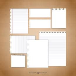 vecteurs papier de note