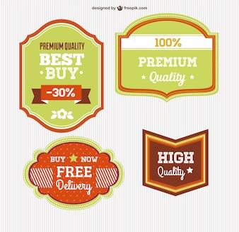 Vector badges mis en téléchargement gratuit