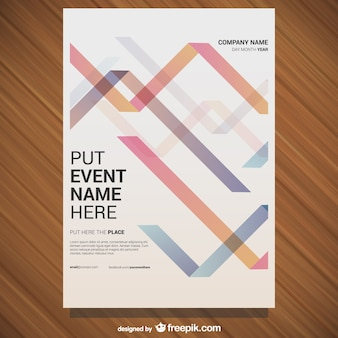 Free vector poster conception géométrique