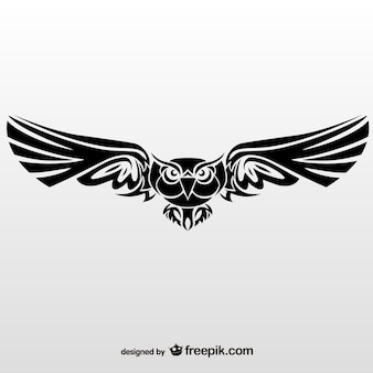 Illustration vectorielle de hibou tribal