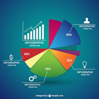 Vecteur infographie camembert modèle