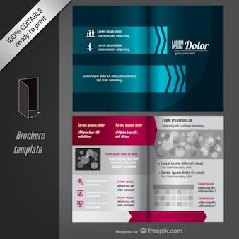 Vectoriel éditable modèle de brochure