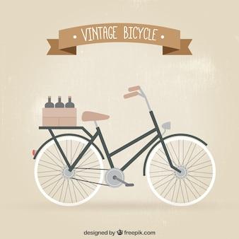 Vélo vintage avec des bouteilles