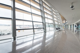 Verre terminale l'architecture marche des affaires