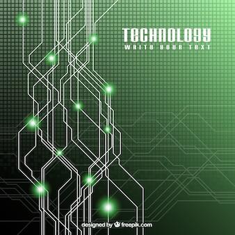 Vert technologie fond
