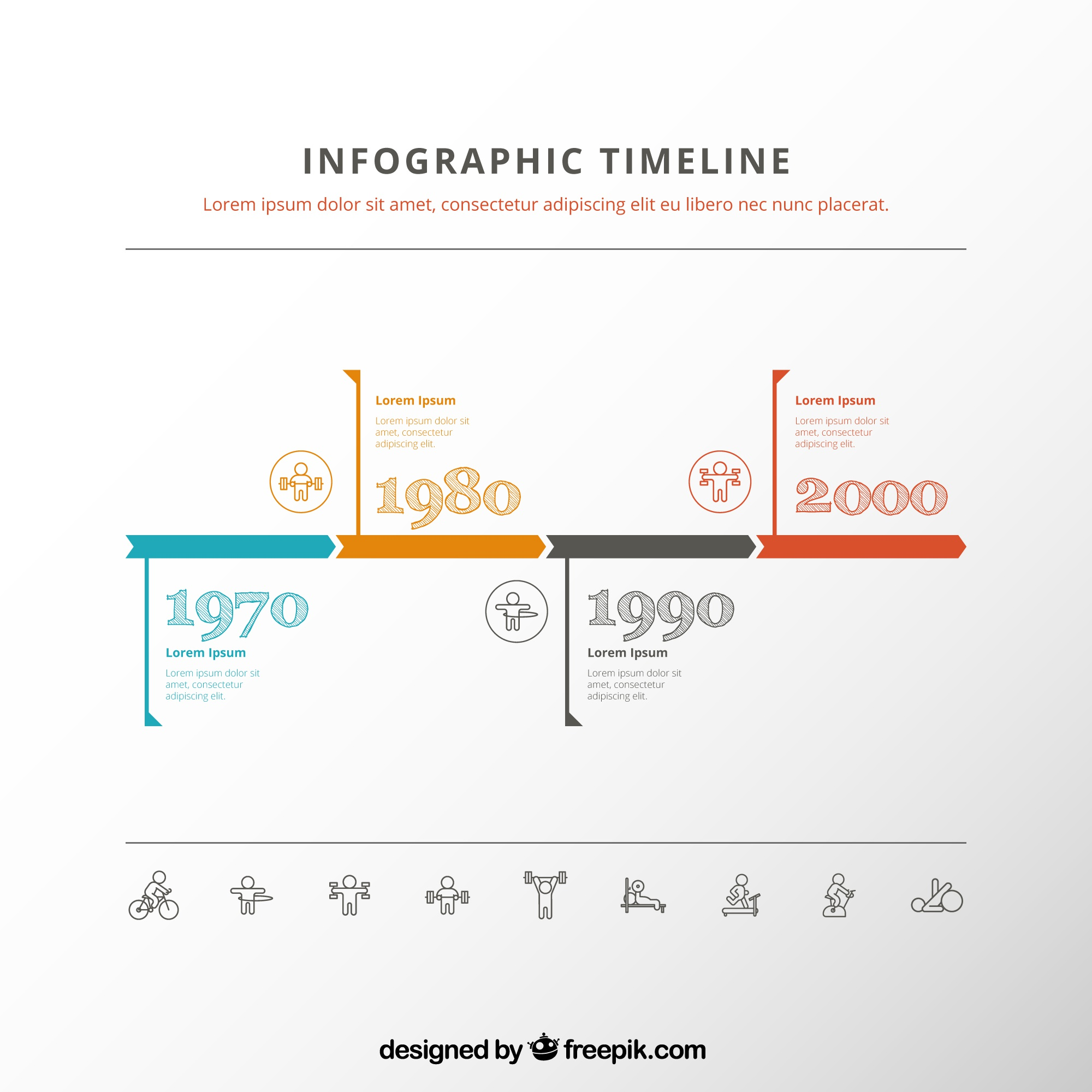 Vintage calendrier infographie