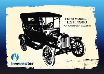 Vintage Ford voiture vecteur libre