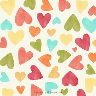 Vintage Hearts fond