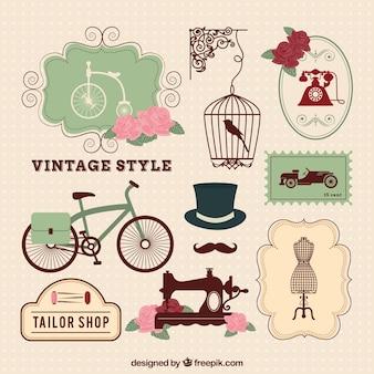 Éléments de style vintage