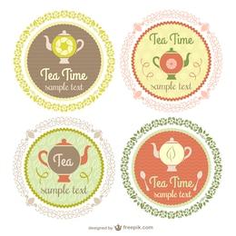 Vintage Tea étiquettes de temps