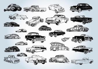 Vintage vecteurs voitures